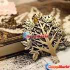 Europe Vintage Palace Bird Christmas Tree Letters Chain Pendant Sweater Necklace