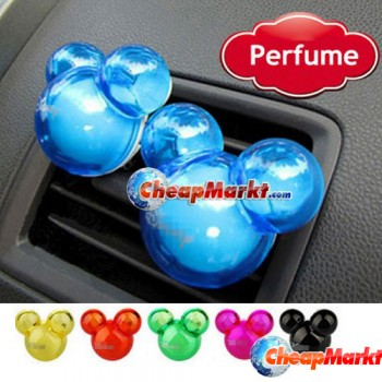 2 x Mickey Mouse Shape Air Freshener Perfume Diffuser for Auto Car