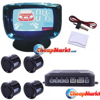 Auto Car LCD Display Parking Reverse 4 Sensors Backup Radar System