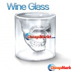 Cool Crystal Skull Head Vodka Shot Wine Glass Drinking Ware Home Bar 2.5 Ounces
