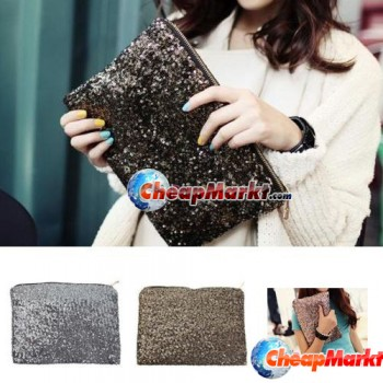 Dazzling Glitter Sparkling Bling Clutch Shiny Sequins Evening Party Bag Handbag