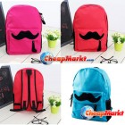 Hot Women Girl Lady Travel Fashion Mustache Schoolbag Book Campus Backpack Bags