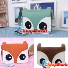 Fashion Women Lady Retro Fox Head PU Shoulder Bag Messenger Handbag School Tote
