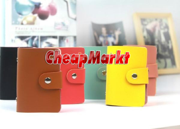Men Lady Faux Leather Wallet ID Credit Card Holder Business Case Purse 24 Slots