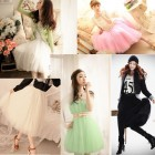 Sweet Fashion Princess Fairy Style 5 layers Tulle Dress Bouffant Skirt