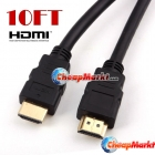 Premium 1.3 Gold 10ft HDMI Ferrite Core Cable 1080P HDTV 3m
