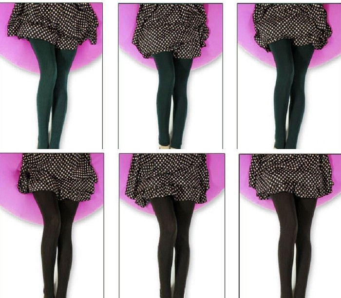 Fashion Women Warm Winter Slim Pants Stretch Thick Footless Tight Leggings