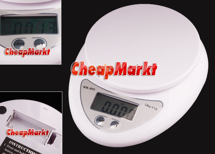 Digital Kitchen Scales, 5kg/1g