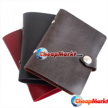 PU Leatherette Card Case Holder Protector