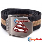 Fashion Men Boy Cool Durable Sports Canvas Belts Superman Design 110CM